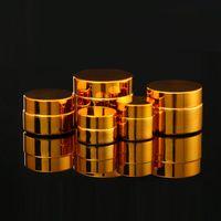 5g 10g 20g 30g 50g Boş UV Kaplama Altın Gümüş Cam Kozmetik Konteyner, Doldurulabilir Kozmetik Paketi F1390