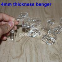 Femelle Mâle 10 14 18 mm Clou à quartz 4mm, collecteur de silicone épais 100% quartz pur Banger Nail