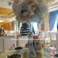 sadece EMS tarafından gönderilen) koridor akrilik / zihinsel düğün çiçek standı / düğün dekorasyon çiçek standı / metal çelenk çiçek standı (