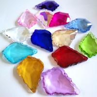 50pcs/lot 38mm Mix Color Glass Crystals Lamp Prisms Parts Hanging Crystal Pendants For Lighting Chandelier