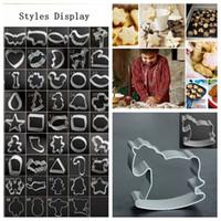 61 Stil Bisküvi DIY Kalıp Yıldız Kalp Kesici Pişirme Kalıpları Alüminyum Alaşım Çerez Kesiciler Piston Şablonlar Pasta DDA694