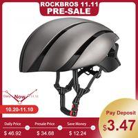 ROCKBROS Ultralight Bike Helmet Cycling EPS Casque intégralement moulé Réfléchissant Vtt Vélo Chapeau De Sécurité Pour Hommes Femmes 57-62 CM C18110801