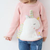 INS hotsale Kids clothing Sweaters Pullover Unicorn applique...