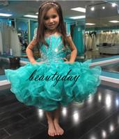 فساتين فتاة صغيرة فساتين أثواب 2019 طفل أطفال الكرة ثوب glitz زهرة فتاة اللباس حفلات الزفاف مطرز الحجم الأورجانزا 4 6 8
