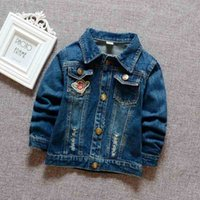 Baby Boys Denim Jacket Newborn Boys Fashion Embroidery Jacke...