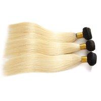 9A OMBRE 1B / 613 Bleach Blonde Brazilianストレートバージン人間の髪の毛の織物バンドルペルーマレーシアのインドのロシアのレミーのヘアの拡張