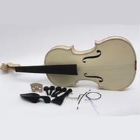 Alta calidad de fábrica inacabado violín blanco selectivo 10 años de arce de abeto seco natural parte posterior tapa de abeto hecho a mano Violino tamaño completo