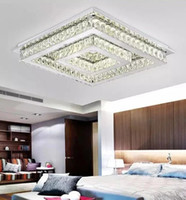 LED moderne carrée en cristal en acier inoxydable LED Lampe.LED Light.Ceiling Lights.LED Plafonnier. Lampe Ciling