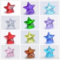 200 pz perline di cristallo 5mm pendente Locket stella perline 12 colore cristallo di vetro perline FAI DA TE spedizione gratuita