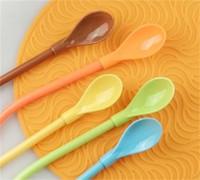 Plastic Palhinhas Multifunção palha plástico Tubularis Colher de Bebé Pure Bebida Creative Color Areia Ice Bar Ferramenta 0 35ss ii