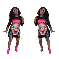 Plus size cartoon print dress