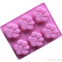 الإبداعي الكلب البصمة قالب الكعكة مقاومة للحرارة diy فندان اليدوية سيليكون الصابون العفن ل العملي المطبخ الخبز أداة 2 2xg zz