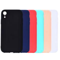 Cubierta del color del caramelo para el iPhone XR Funda Soft TPU Ultrafina Diseñador Mobie Phone Cases Capinha Para iPhone XR 6.1 pulgadas