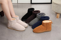 2018 new Women Snow Boots Australian Cow Suede Leather Winte...