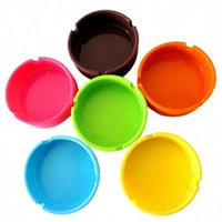New Colorful Friendly Heat- resistant Silicone Ashtray Pocket...