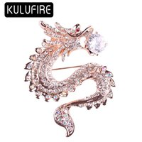 KULUFIRE Dragon Pattern broches mujer enamel pin badge regal...