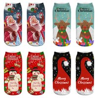 Cartoon Christmas Socks 3D Printing Merry Christmas Santa Ch...