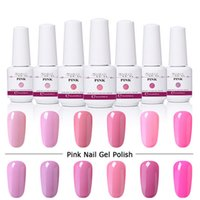 8ml Smalto per unghie Gelish Harmony rosa serie Soak Off Gel UV per LED Top It Off