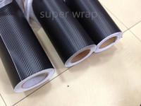 1.52 x 30M Dimensions et PVC Matériau Enveloppe de film vinyle en fibre de carbone noir 3D
