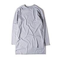 Большой для Sam Tshirts Men Summer пассивом Топы Шорты Sleeved Ярус Изогнутые Extended футболки разрезных тройников
