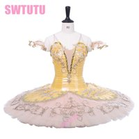 Classical Ballet Stage Costume Tutu Skirt Adult Gold Fairy P...