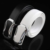black white genuine Leather cool car style designer belts fo...