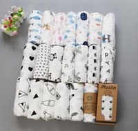 62 styles Baby Muslin Swaddles 100% coton Couvertures de coton Literie de la pépinière Supports de bain NOUVEAUNOWN 122X122CM
