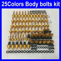 Pernos de carenado Kit de tornillo completo para KAWASAKI ZX6R 07 08 ZX-6R ZX 6 R 07-08 ZX 6R ZX6R 2007 2008 07 Tuercas de cuerpo Tornillos Tuercas Kit de pernos 25 Colores