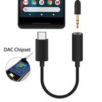 Tipo c Macho a 3.5MM Jack Adaptador de Audio Hembra Aux Cable Convertidor para Google pixel 2 HTC U11 samsung s8 s9 lg g5 y más