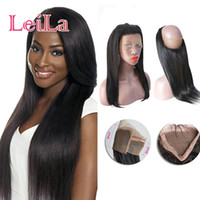Pre Plucked 360 Lace Frontal Straight Hair With Baby Hair Pe...