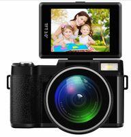 Completa cámara HD 1080P 24MP profesional digital de 4x zoom de 3,0 pulgadas de la pantalla de visualización de vídeo de la videocámara DVR con lente gran angular de 52 mm