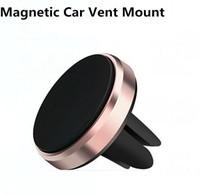 유니버설 강한 마그네틱 자동차 공기 환기 마운트 금속 전화 홀더 스탠드 지원 아이폰 x 삼성 S9 LG 화웨이 모토 소매 상자