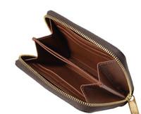 Горячая распродажа бренд классический коричневый цветок дамбюр натуральная кожа короткая зиппи монета мешок M60067 Франция Zippy монета кошелек женщин карт кошельки с коробками