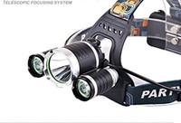 Lampada / faro da mini faro a LED a fuoco fisso Luci da pesca in alluminio a batteria ricaricabile a lungo raggio T6-KT-006 Kit faro anteriore 3T6 (2 elettr