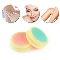 Indolore peau lisse jambe bras visage épilation exfoliant épilation éponge peau soins de beauté outils