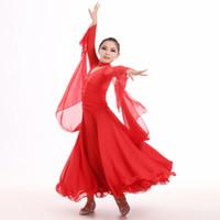مرحلة ارتداء قاعة رقص بيضاء فساتين الرقص للأطفال اللباس الصين الفتيات الرقص المنافسة الفالس الإسبانية الفلامنكو