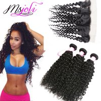 Human Hair Wefts With Closure 13x4 frontal Ear To Ear Deep W...