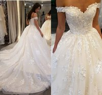 Hot Lace Embroidery Wedding Dresses Sweetheart Backless Off-...