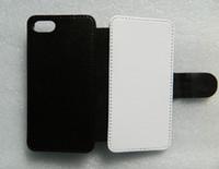 iphone 7 / iphone 8 DIY 플립 PU 가죽 승화 케이스 + 빈 인쇄 폴리 에스터 직물 무료 배송 100pcs / lot