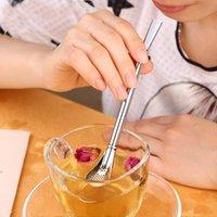 الفولاذ المقاوم للصدأ الشرب القش مصفاة كوكتيل شاكر القهوة الشاي مرشح ملعقة بار حزب التموين الملحقات قابلة لإعادة الاستخدام