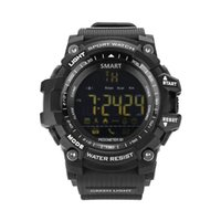 Mens Military Smart Watch, EX16 Bluetooth 4.0 Digital LED Uhr 5ATM IP67Outdoor Wasserdichte Bluetooth Sport Smart Watch mit Android und ich