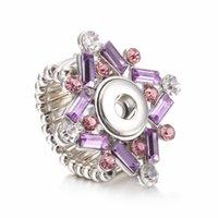 Hot vente de haute qualité 007 fleur métal bricolage anneau réglable en forme de gingembre 12mm bouton circlips anneaux de charme bijoux pour les femmes