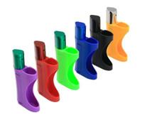 새로운 플라스틱 휴대용 담배 홀더 라이터 분리형 다기능 금속 파이프