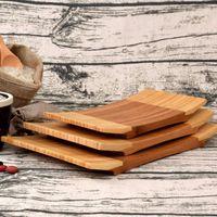 Suşi Tepsi Japonya Tarzı Dikdörtgen Suşi Tabağı Bambu Geleneksel Sofra Pişirme Aletleri Çevre Dostu
