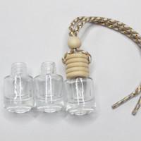 나무 모자와 플라스틱 팁 뜨거운 판매 고품질 투명 유리 아로마 향수 자동차 병 유리 빈 향수 병