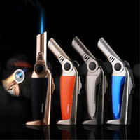 Le nouveau métal coupe-vent butane gaz briquet métal allume-cigare mini supplément jet flamme torche jet butane torche diverses couleurs livraison gratuite