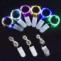Umlight1688 2M 20LEDs LED String CR2032 Pil LED Işıklar Bakır Tel String Işık Noel Cadılar Bayramı Dekorasyon Düğün Partiyi İşletilen