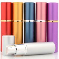 Heißer leerer Duftstoff-Flaschen-nachfüllbarer Aluminiumzerstäuber-Spielraum Parfum-Behälter der Mini-10ml mit Farbe der Zerstäuber-Airless-Pumpe 8