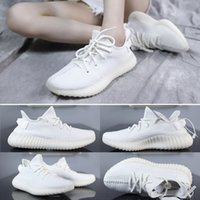 Top 350 v2 running shoes mens cream white butter black red d...
