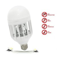 Electric Trap Light Indoor 15W E27 LED Mosquito Killer Bulb ...